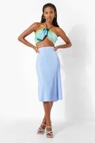 Thumbnail for your product : boohoo Plisse Skater Midi Skirt