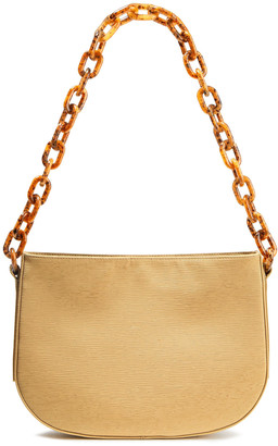 BY FAR Pelle Plisse-woven Shoulder Bag