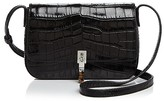 Elizabeth and James Cynnie Flap Croc-Embossed Leather Crossbody