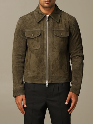 Ami Alexandre Mattiussi Jacket In Suede Goat Leather