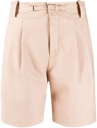 RED Valentino High-Waisted Belted Shorts