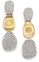 Marco Bicego Lunaria Diamond & 18K Yellow Gold Triple-Drop Earrings