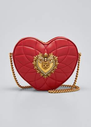 Dolce & Gabbana Devotion Heart Zip Crossbody Bag