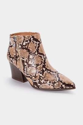 Qupid Nava Snake Ankle Boot - Snake