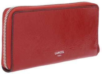 Lancel Clic Zip-Around Wallet in Red