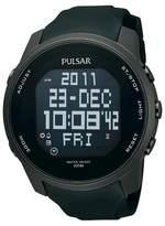 Pulsar Men's Digital World Time Chronograph - Black - PQ2011