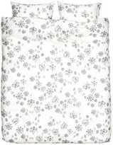 H&M Patterned Duvet Cover Set - White/snowflakes