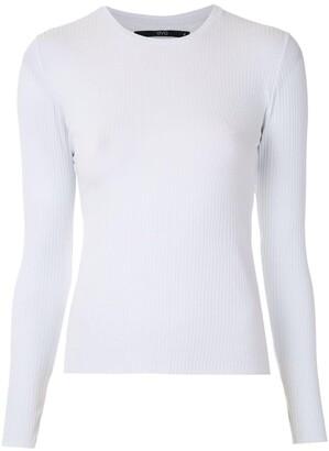 Eva Ribbed Long Sleeves Top