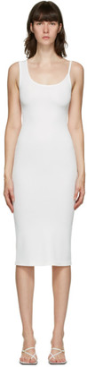 CHRISTOPHER ESBER SSENSE Exclusive White Asymmetric Strap Midi Dress