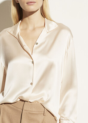 Vince Stand Collar Blouse