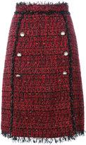 MSGM embroidered fringed skirt