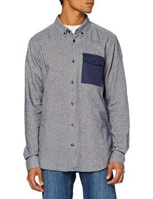 Wesc Men's Oakes Regular Fit Long Sleeve Casual Shirt,Medium