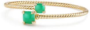 David Yurman Medium Châtelaine 18K Gold Bypass Bracelet with Chrysoprase & Diamonds