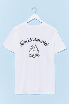 Nasty Gal Womens Bride Squad Bachelorette Graphic Tee - Black - S, Black