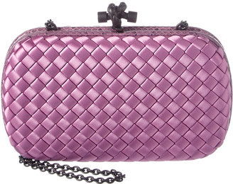 Bottega Veneta Intrecciato Impero Chain Knot Clutch