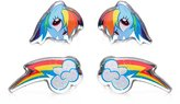 My Little Pony SURGICAL STAINLESS STEEL EARRINGS - 2 PACK (Rainbow Dash and Cutie Marks)