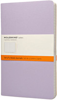 Moleskine Cahier Set Of 3 Ruled Notebook, Large, Pastel Colours