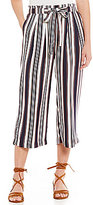 Soulmates Vertical Striped Tie Waist Culotte Pants