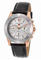 Swiss Legend Women's 'Paradiso' Quartz Stainless Steel and Leather Casual Watch, Color:Black (Model: 16016SM-RG-02-SB)
