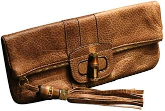 Gucci Bamboo Camel Leather Clutch bags