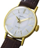 Seiko Chorus Gold Plated Stainless Steel & Leather Automatic 23mm Womens Watch
