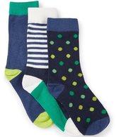 Class Club 3-Pack Assorted Crew Dress Socks