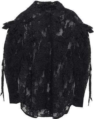 Simone Rocha Embellished Corded Lace And Point D'esprit Shirt