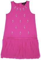 Juicy Couture Girls Embellished Chiffon Fringe Dress