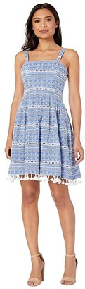 Vince Camuto Sleeveless Cotton Dress (Light Denim) Women's Dress
