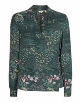 Ted Baker Thessie Diamond Pintuck Wrap Blouse
