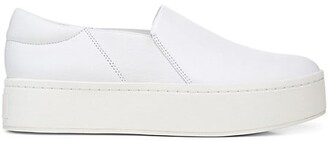 Vince Warren Slip-On Platform Leather Sneakers
