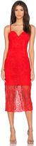 Lumier Follow Your Heart Lace Bustier Dress