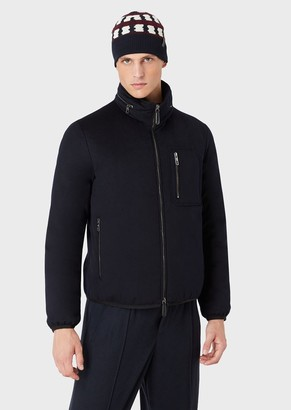 Giorgio Armani Water Repellent Jacket With Cashmere Flakes Padding