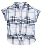 Love, Fire Tie Front Plaid Shirt