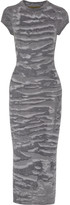 Enza Costa Printed ribbed-knit midi dress
