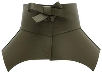 Loewe Khaki Leather Obi Belt