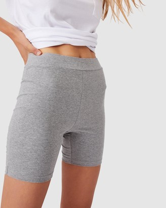 Cotton On Women's Grey Hot Pants - The Pip Jersey Bike Shorts - Size L at The Iconic