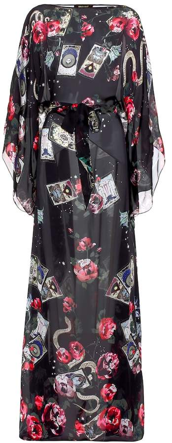 Roberto Cavalli Printed silk kaftan dress