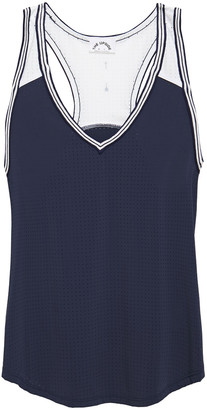 The Upside Lilo Paneled Perforated Stretch-jersey Tank