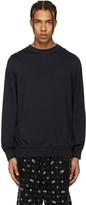 Sacai Navy Cotton & Cashmere Pullover