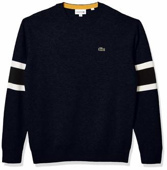 Lacoste Mens Long Sleeve Fancy Stitch 90S Logo Sweater Sweater