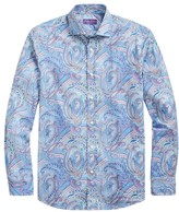 Ralph Lauren Purple Label Aston Paisley Button-Front Shirt