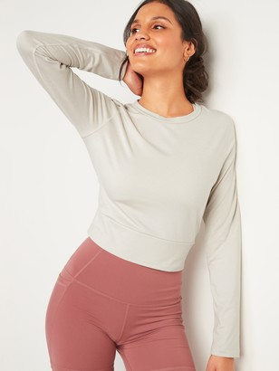 Old Navy CozeCore Long-Sleeve Crop Tee for Women