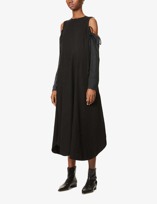 Song For The Mute Detachable long-sleeve crepe midi dress