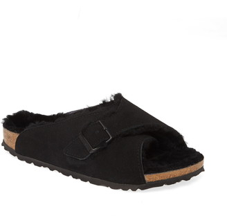 Birkenstock Arosa Genuine Shearling Slide Sandal