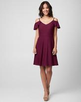 Le Château Crochet Cold Shoulder Dress