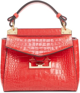 Givenchy Mini Mystic Croc Embossed Leather Satchel