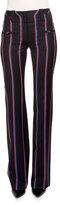 Altuzarra Serge Zip-Front Striped Pants, Navy/Tango