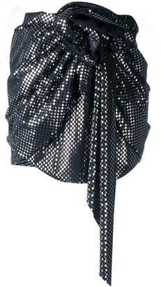Magda Butrym Asymmetric Silk Mini Skirt