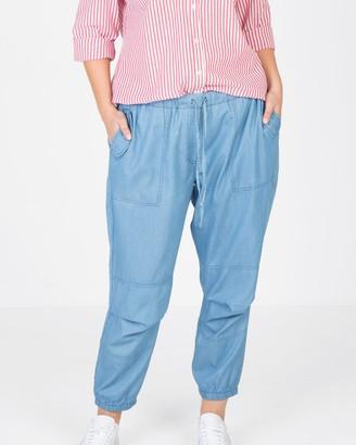 Love Your Wardrobe Chambray Soft Cargo Pants